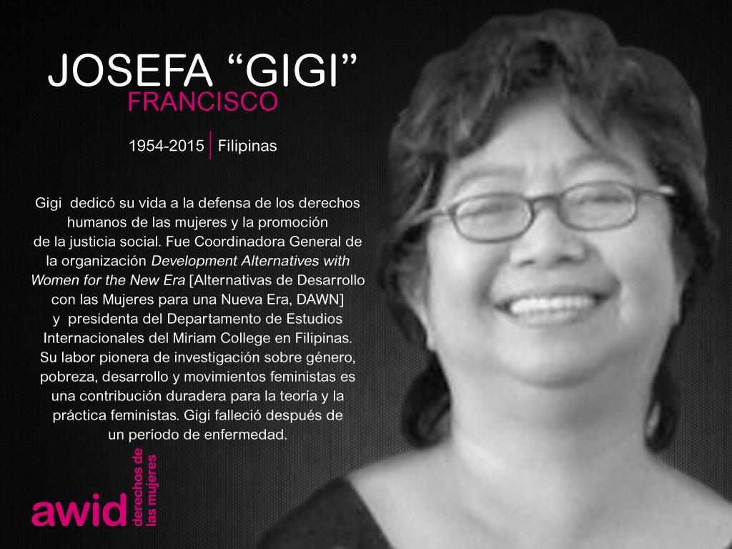 """Josefa """"Gigi"""" Francisco_SP"""