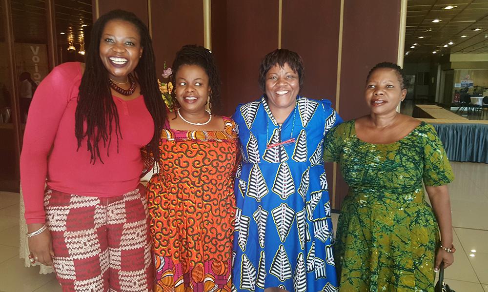 At the African Feminist Forum - from left to right: Bella Matambanadzo, Everjoice Win, Thoko Matshe and Margaret Dongo. (Photo: Nana Darkoa)
