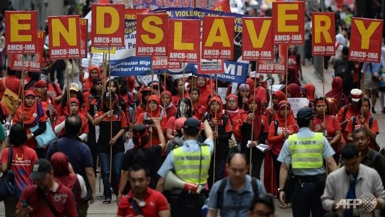 Movement Series: Asian Migrants' Coordinating Body (AMNC) demonstrate to end exploitation of migrant domestic workers in Hong Kong