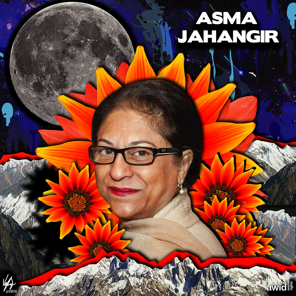 "<strong>Asma</strong> was a leading Pakistani rights activist, fearless critic of the military's interference in politics and a staunch defender of the rule of law.<br /><a href=""https://www.awid.org/whrd/asma-jahangir"" title=""WHRD Tribute: Asma Jahangir"">Read more ></a>"