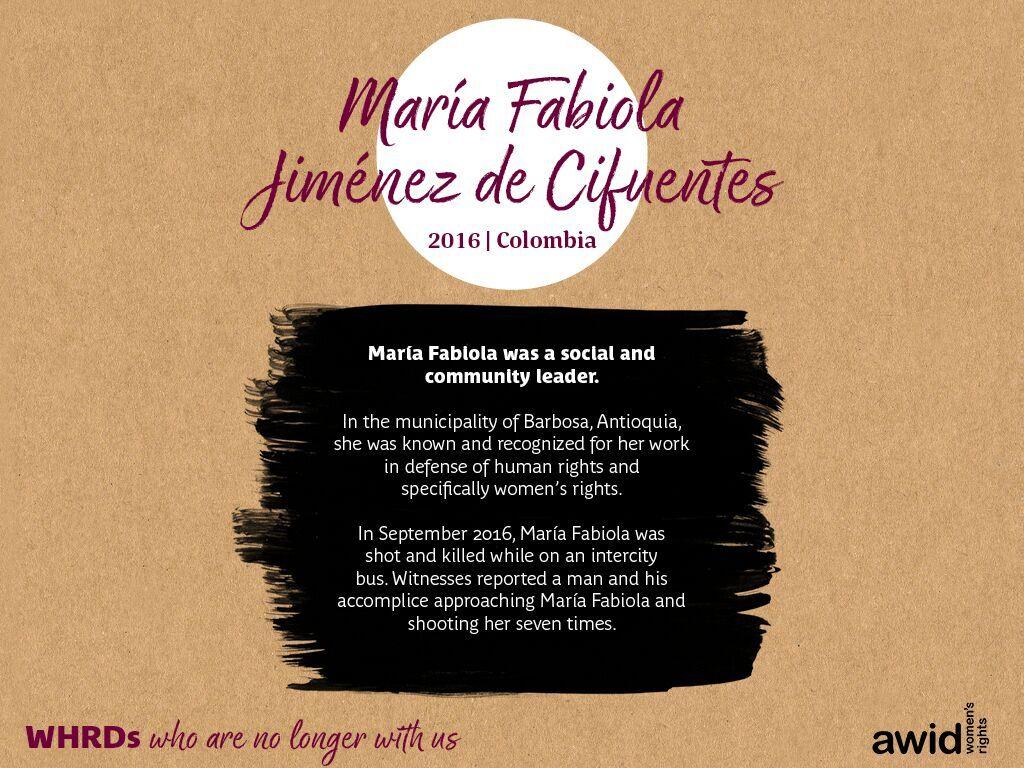 María Fabiola Jiménez de Cifuentes (EN)