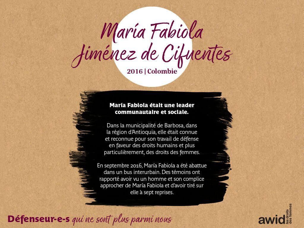 María Fabiola Jiménez de Cifuentes (FR)