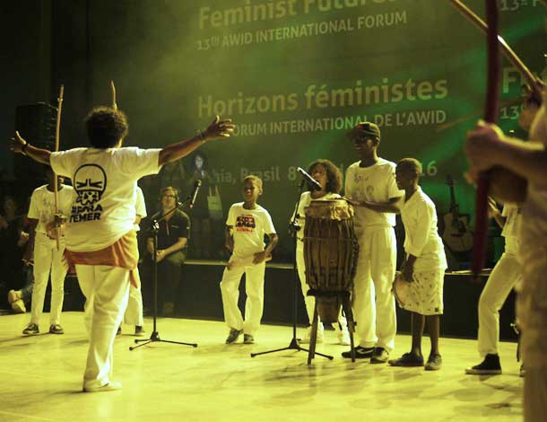 Capoeira demo at the AWID Forum 2016 (610x470)