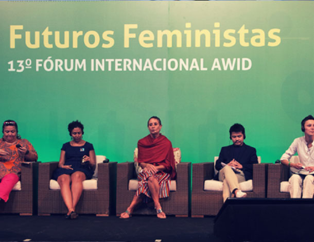 AWID Forum, plenary 1 - panel of speakers (610x470)