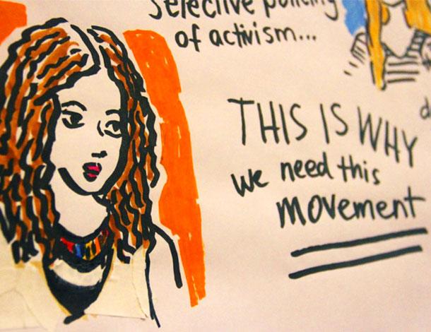 "AWID Forum Illustration - ""This is why we need movements"" photo: Antonia Eklund (610x470)"