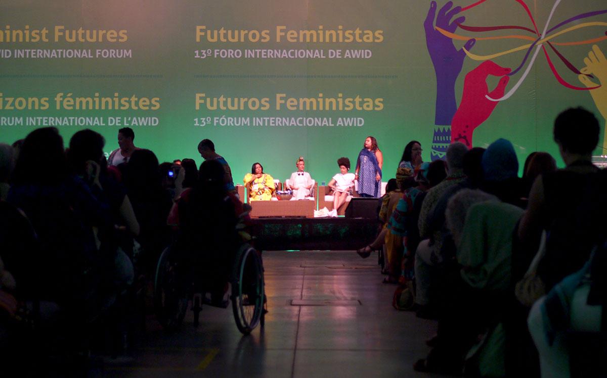AWID Forum - 2016 - Bahia, Brazil : plenary room (Cécile, AWID)