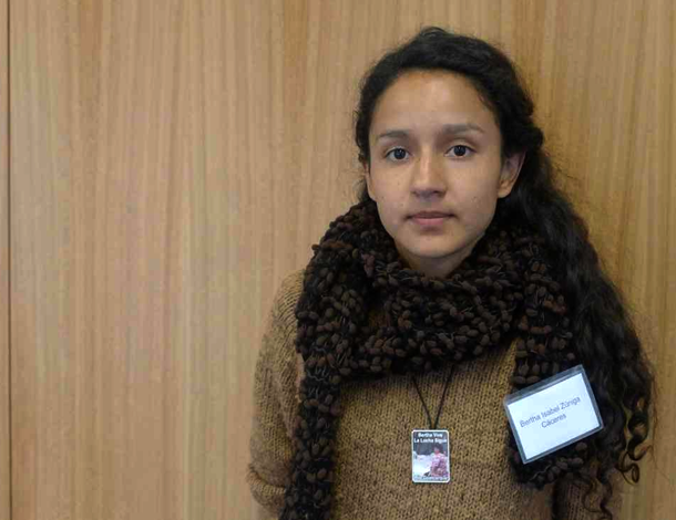 Bertha Cáceres, daughter of Berta, at CSW60