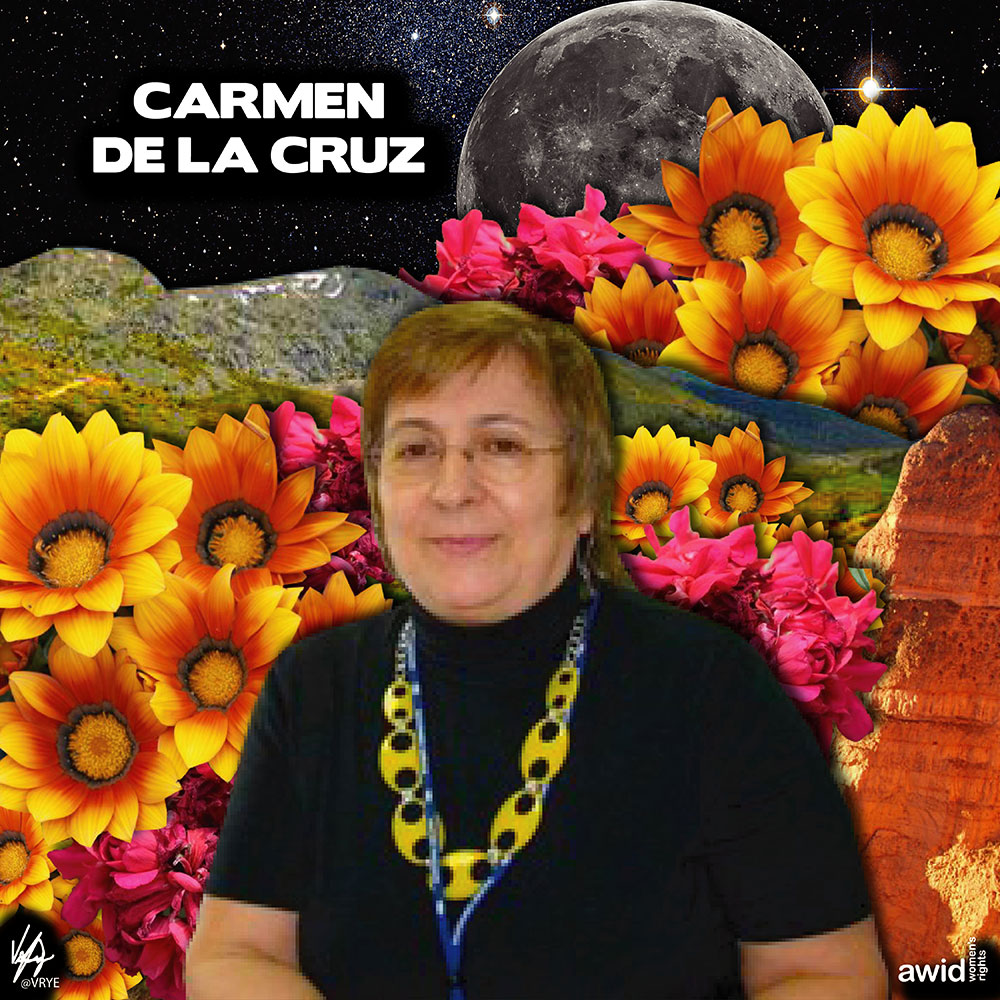 "<strong>Carmen </strong>had a long career advocating for women's rights both in NGOs and within the United Nations (UN) system.<br /><a href=""https://www.awid.org/whrd/carmen-de-la-cruz"" title=""WHRD: Carmen de la Cruz"">Read more &gt;</a>&nbsp;"
