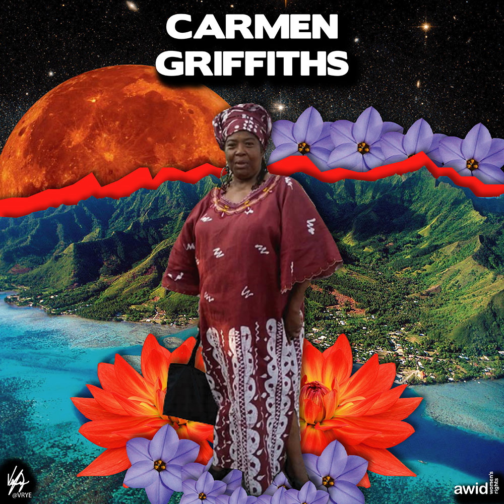 "<strong>Carmen</strong>&nbsp;was instrumental in supporting women's involvement in the construction industry in Jamaica.<br /><a href=""https://www.awid.org/whrd/carmen-griffiths"" title=""WHRD: Carmen Griffiths"">Read more &gt;</a>&nbsp;&nbsp;"