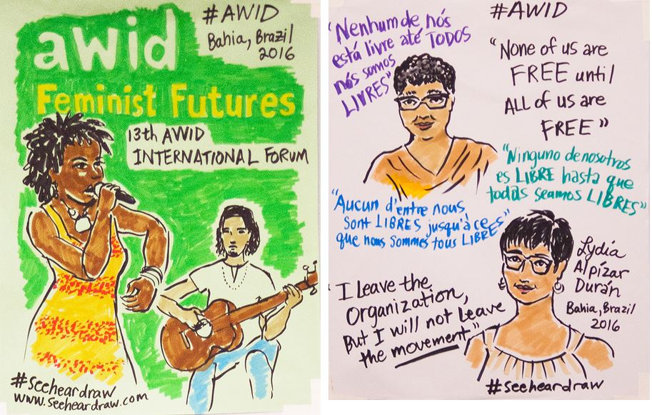 AWID Forum - Illustration: Opening plenary