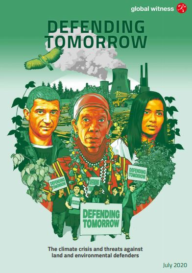 Global Witness report cover - Defending Tomorrow