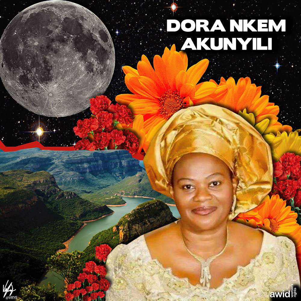 "<strong>Dora </strong>was a globally acclaimed pharmacist and community leader. Her revolutionary work created a paradigm shift in the Nigerian public service.<br /><a href=""https://www.awid.org/whrd/dora-nkem-akunyili"" title=""WHRD: Dora Nkem Akunyili"">Read more ></a>"