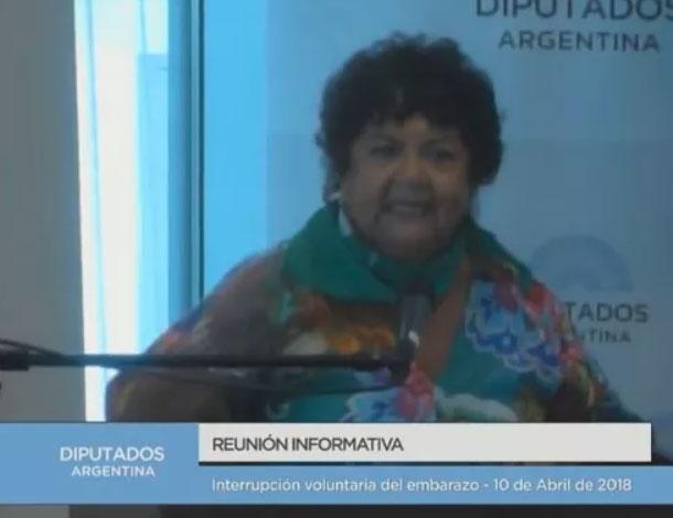 Argentina : Dora Barrancos en el Congreso - Por un ejercicio de la sexualidad liberada de la reproducción