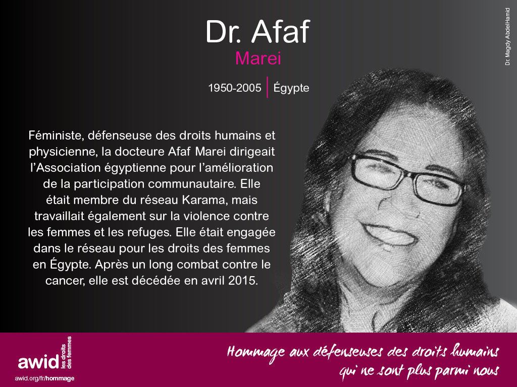 Dr. Afaf Marei (FR)