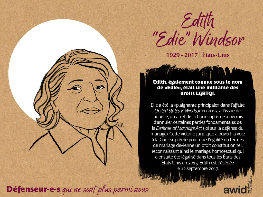 "Edith ""Edie"" Windsor (FR)"