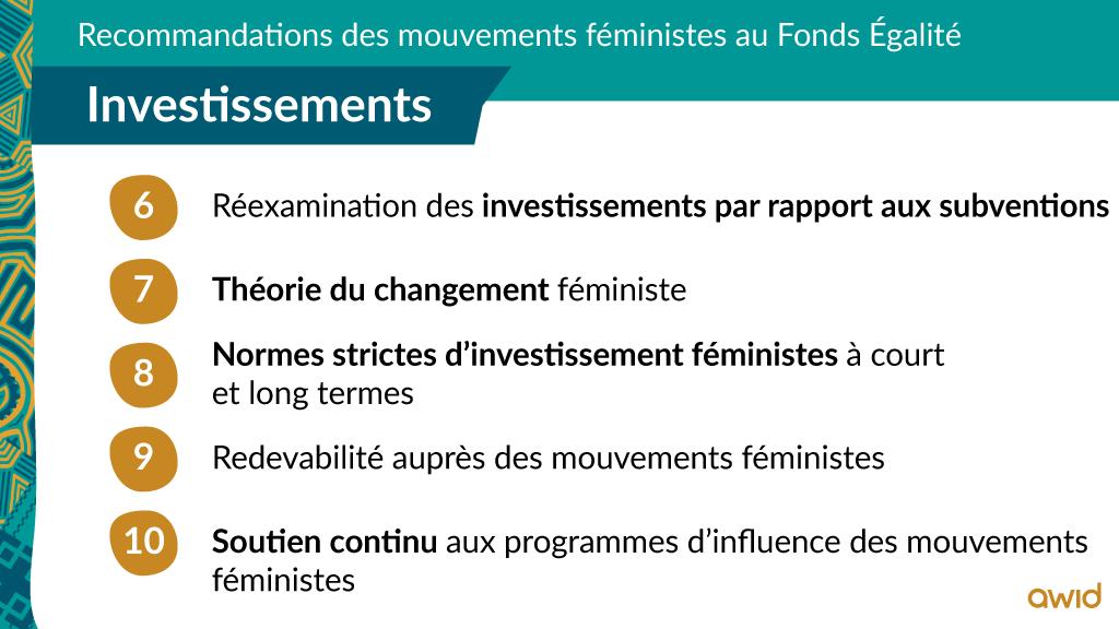 EF - Top line recommendations - FRA - Investissements