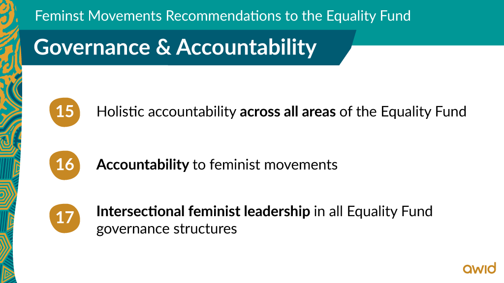 EF - Top line recommendations on Governance & Accountability