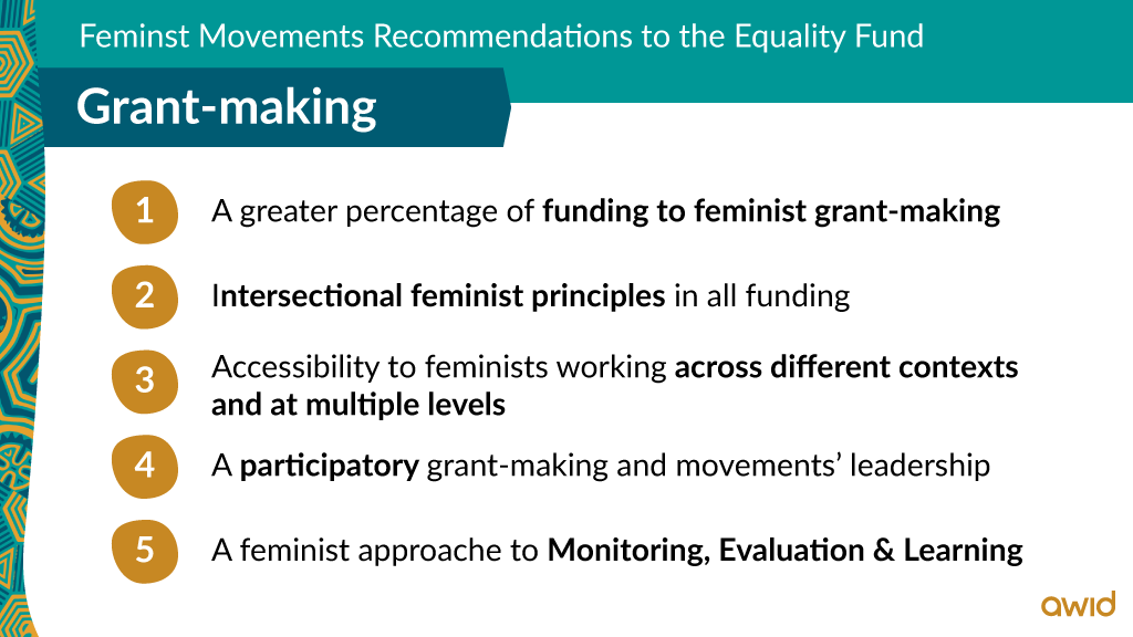 EF - Top line recommendations on Grant making