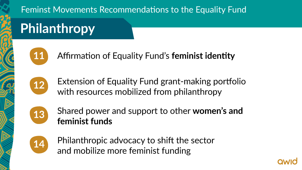 EF - Top line recommendations on Philanthropy