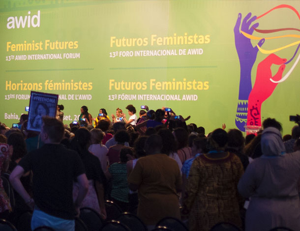 Co-creating Feminist Futures - AWID Forum 2016 - Plenary 1 (photo: Cécile Pillon-Hue) - 610x470