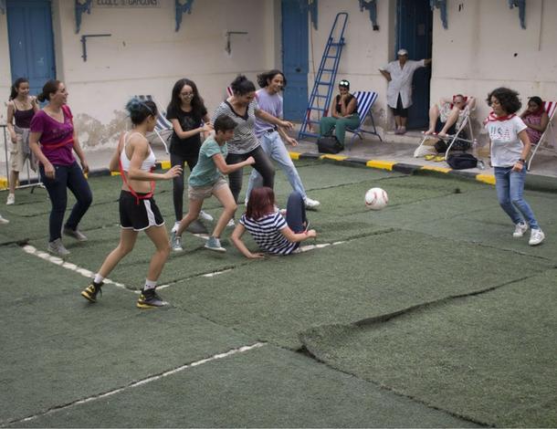 Chouftouhonna's women's football workshop