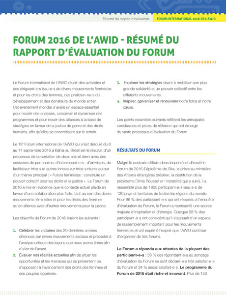 Forum Evaluation - Executive Summary FR (cover) - 460x600