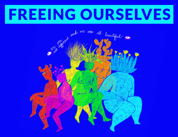 Curated conversation - Freeing Ourselves - artwork by Vidushi Yadav (610x470)