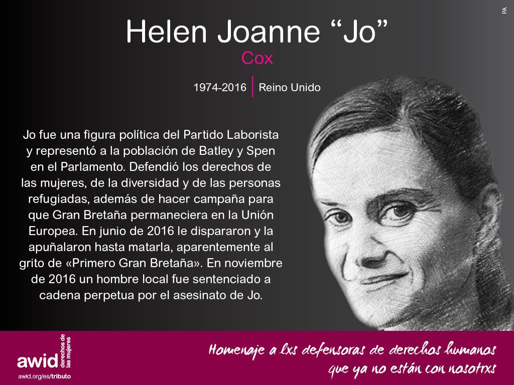 """Helen Joanne """"Jo"""" Cox (SP)"""
