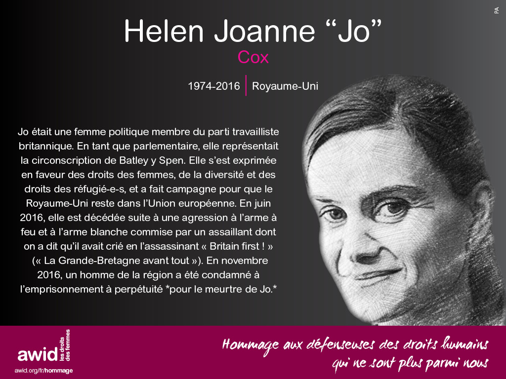 """Helen Joanne """"Jo"""" Cox (FR)"""
