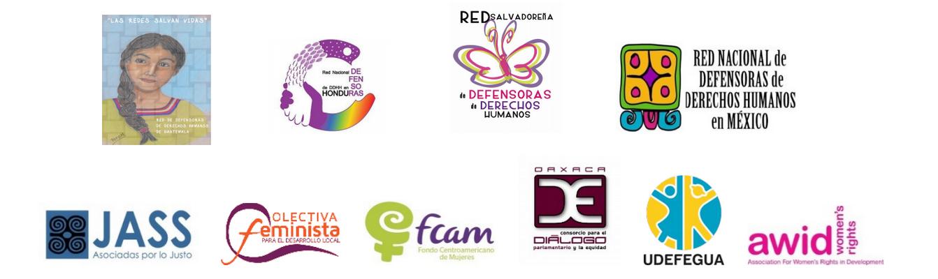 IM Defensoras - organization logos