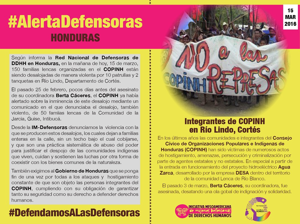 IM-Defensoras COPINH members - Spanish