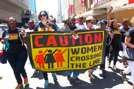 "JASS - March ""Women Crossing the Line"""