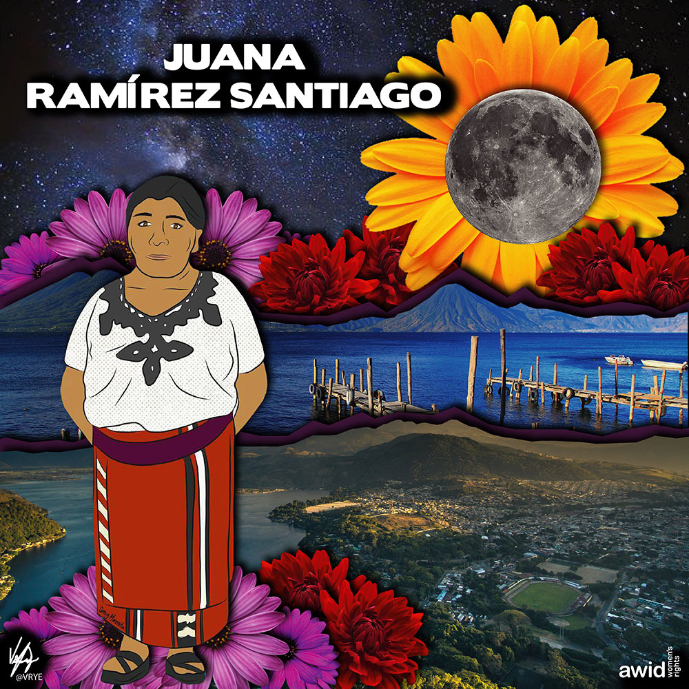 "<strong>Juana</strong> was one of the founders and Board Member of Red de Mujeres Ixiles de Nebaj, an Indigenous women's rights organization, member of IM-Defensoras.<br /><a href=""https://www.awid.org/whrd/juana-ramirez-santiago"" title=""WHRD: Juana Ramirez"">Read more ></a>"