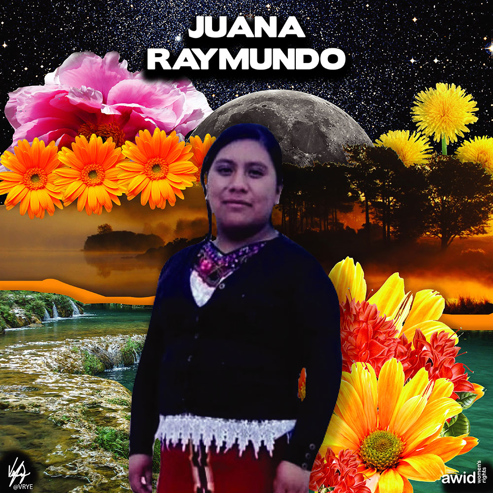 "<strong>Juana </strong>was an Indigenous Mayan Ixil, professional nurse and coordinator of the Farmers' Development Committee, in Guatemala.<br /><a href=""https://www.awid.org/whrd/juana-raymundo"" title=""WHRD: Juana Raymundo"">Read more &gt;</a>&nbsp;"