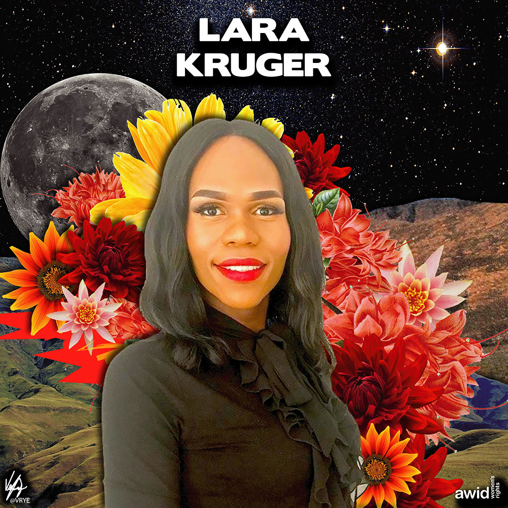 "<strong>Lara </strong>was a well-known and loved radio DJ on Motsweding FM in South Africa. She worked hard to shine a light on LGBTI issues.<br /><a href=""https://www.awid.org/whrd/lara-kruger"" title=""WHRD: Lara Kruger"">Read more ></a>"