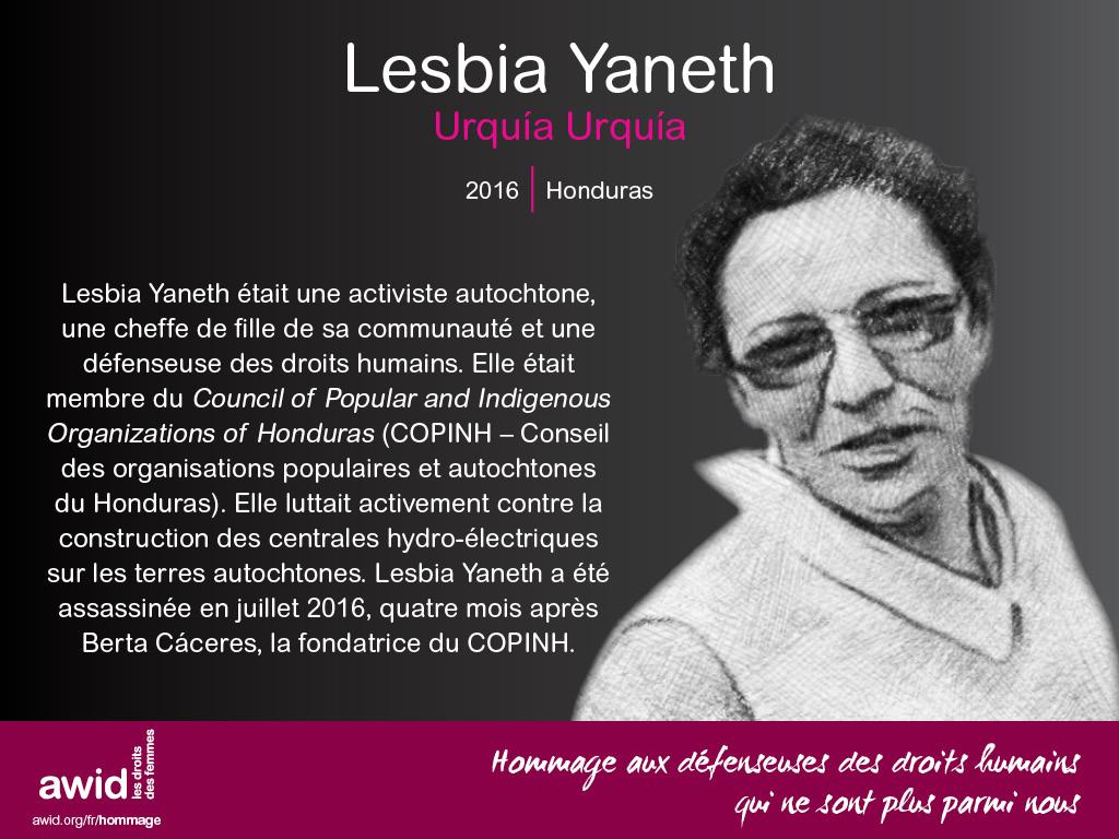 Lesbia Yaneth Urquía Urquía (FR)