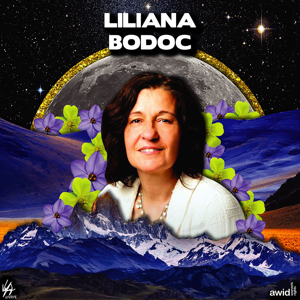 "<strong>Liliana </strong>was a teacher, a weaver, and a well recognized writer. Her feminism was expressed in the diverse, rich and strong women voices in her writing.<br /><a href=""https://www.awid.org/whrd/liliana-bodoc"" title=""WHRD: Liliana Bodoc"">Read more ></a>"