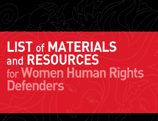 List of resources for WHRDs main