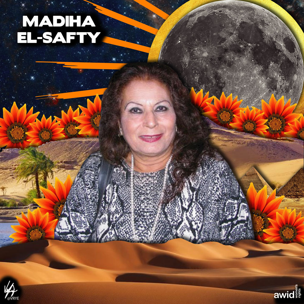 "<strong>Madiha </strong>was a prominent Professor of Sociology who actively engaged with civil society as an advocate for women's rights in the Arab region.<br /><a href=""https://www.awid.org/whrd/madiha-el-safty"" title=""WHRD - Madiha El Safty"">Read more &gt;</a>"
