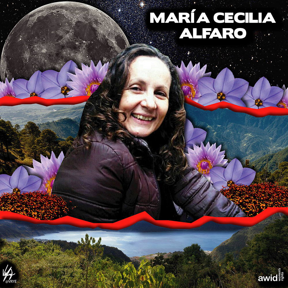"Most of <strong>María</strong>'s life was devoted to incorporating a feminist and gender perspective in institutional and organizational work, and capacity building in Latin America. <br /><a href=""https://www.awid.org/whrd/maria-cecilia-alfaro-quesada"" target=""_blank"" title=""WHRD: Maria Cecilia Alfaro"">Read more ></a>"