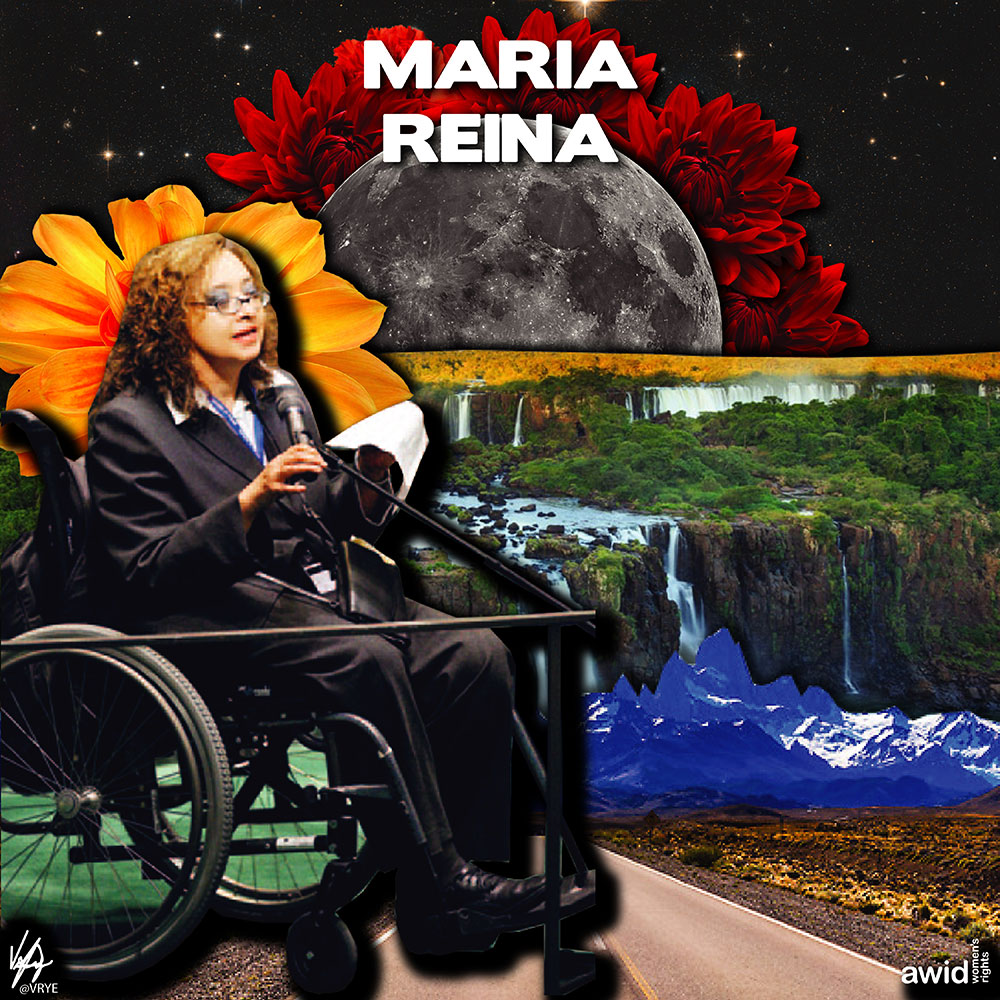 "<strong>María </strong>was recognized globally for her extraordinary leadership in the disability community.<br /><a href=""https://www.awid.org/whrd/maria-veronica-reina"" title=""WHRD: Maria Reina"">Read more ></a>"