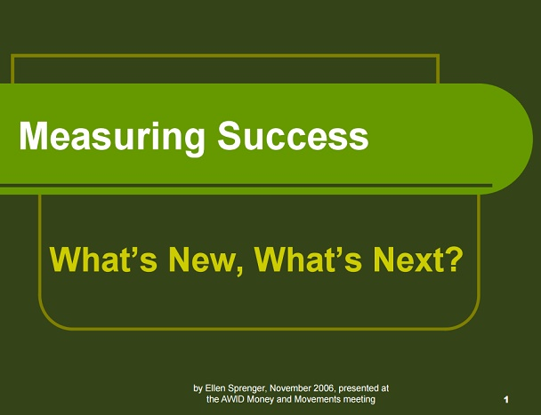 Measuring Success presentation
