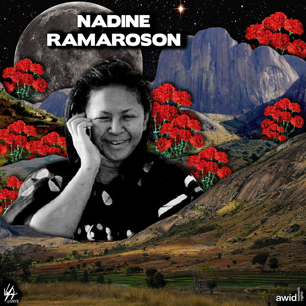 "<strong>Nadine </strong>was a role model to many for her work supporting women and the most vulnerable in her community in Madagascar.<br /><a href=""https://www.awid.org/whrd/nadine-ramaroson"" title=""WHRD: Nadine Ramaroson"">Read more ></a>"