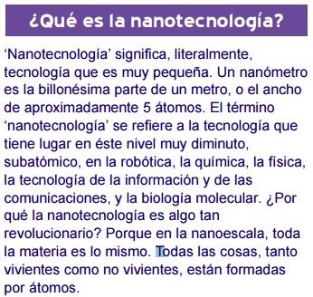 Nanotechnología