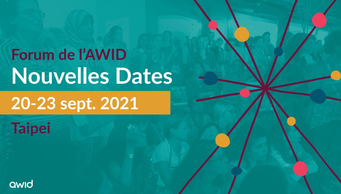 Forum de l'AWID - Nouvelles dates - Twitter banner