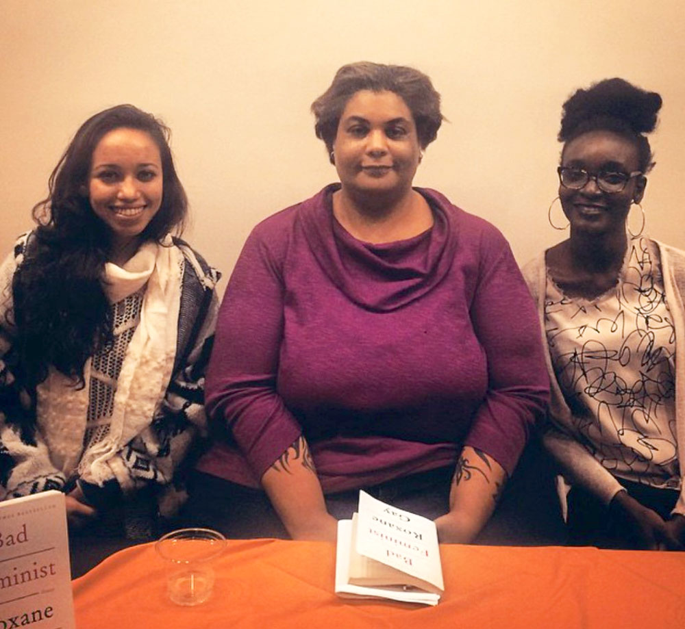 Ngozi Cole with author Roxanne Gay and her friend Ainslee Robson