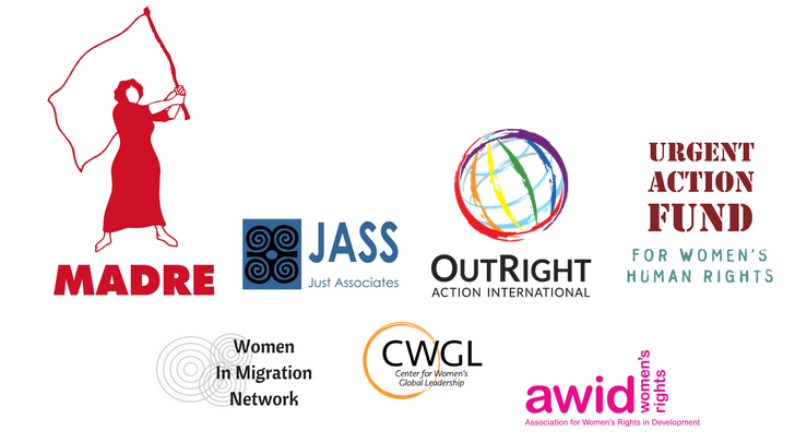 No Border on Gender Justice - signatory organisations logos