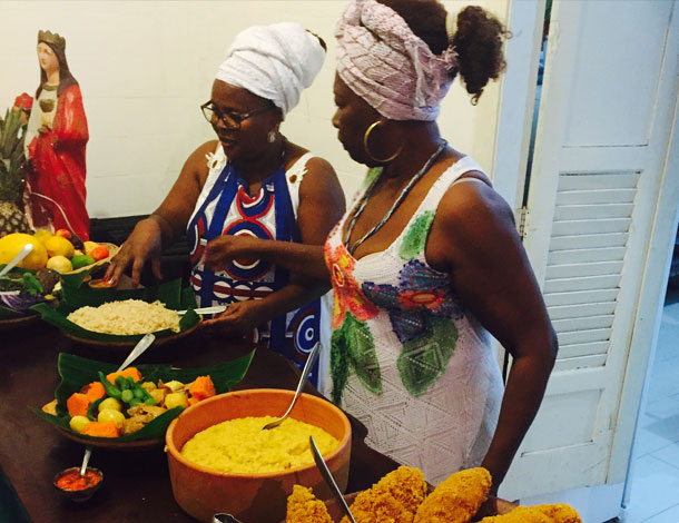 Nourishing Freedoms: 2 Black women cooking (photo: Amina Doherty) - 610x470