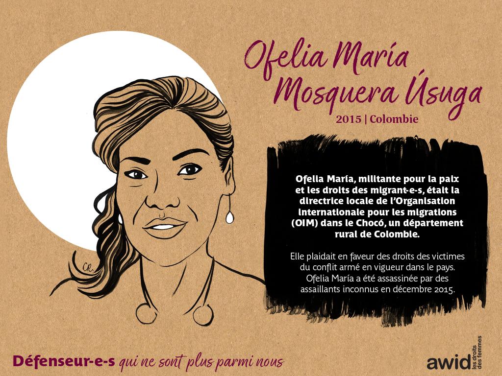 Ofelia Maria Mosquera Usuga (FR)