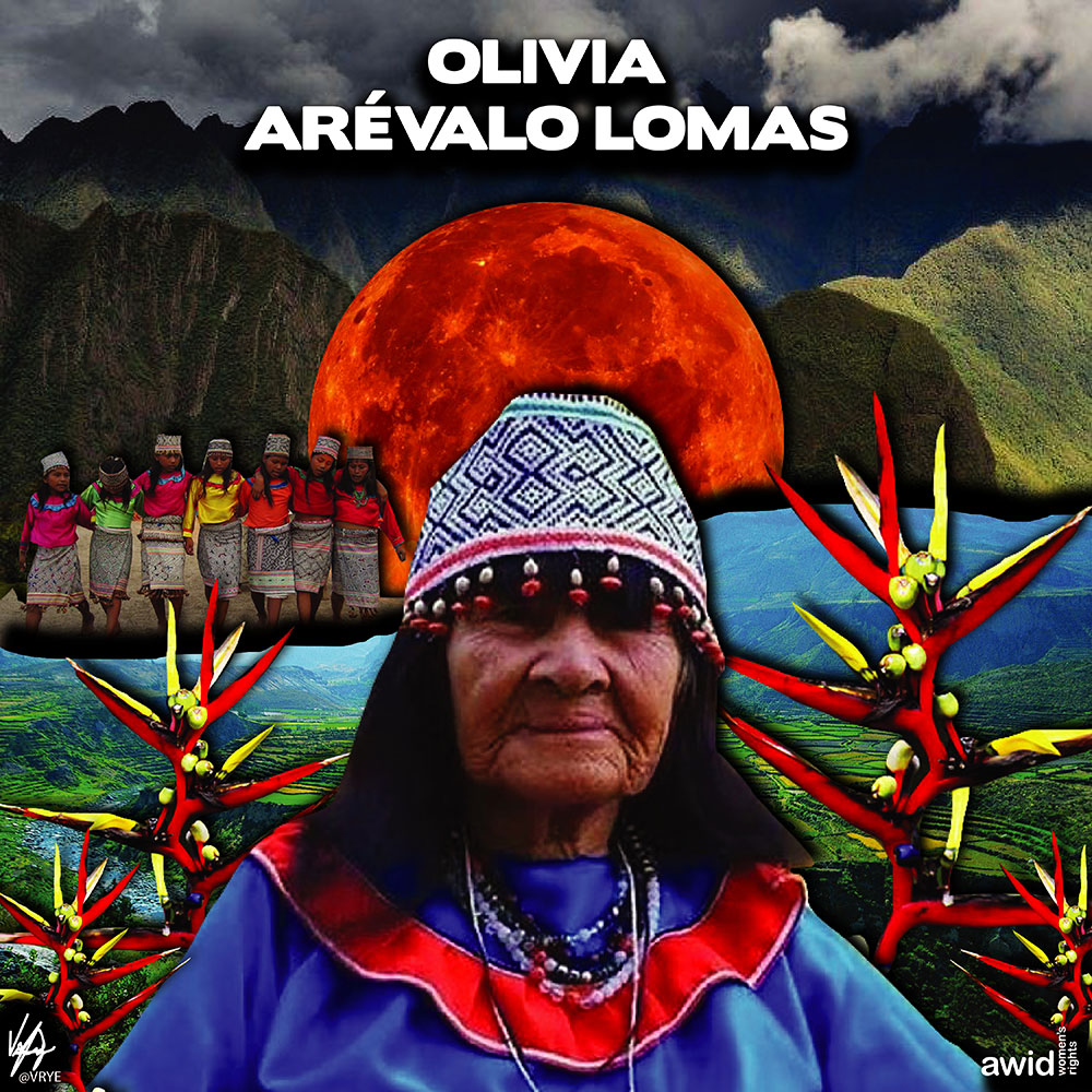 "<strong>Olivia </strong>was the spiritual leader of the Shipibo Konibo peoples. She was an active defender of the cultural and environmental rights of her people.&nbsp;<br /><a href=""https://www.awid.org/whrd/olivia-arevalo-lomas"" title=""WHRD: Olivia Lomas"">Read more &gt;</a>"